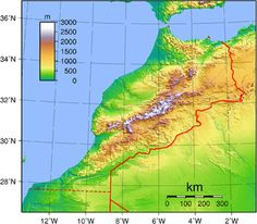 The geography of Morocco - Wikipedai