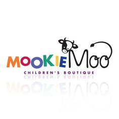 children logo design for mookie moo Children's boutique by thelogoboutique.com - cow - whimsy - fun - kids -