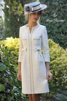 Swans Style is the top online fashion store for women. Shop sexy club dresses, jeans, shoes, bodysuits, skirts and more. Chanel Fashion, Vogue Fashion, Chanel Style, Tweed Dress, Mode Outfits, Mode Style, Winter Dresses, Dress Patterns, Vintage Dresses