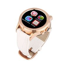 COMI Lady Diamond SmartWatch SW11 Bluetooth Pedometer Heart rate Monitor Thermometer Sedentary Reminder UV Detection Life Waterresistant Touch srceen watch For iOS Android white -- Check out the image by visiting the affiliate link Amazon.com on image.