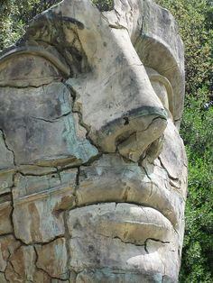 Giant Head in the Boboli Gardens, Florence, province of florence Tuscany Italy