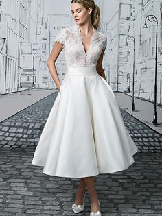 Anabella Pronuptia M elegant dress and fashion for women Tea Length Wedding  Dresses b6ae43b010d