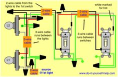 wiring diagram 4 way switch multiple lights electrical pinterest rh pinterest com 3-Way Switch Diagram Light Wiring Multiple Lights On One Circuit