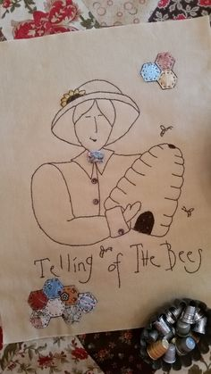 Telling of the Bees ePattern by MyLittleCottageHome on Etsy