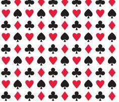 In Wonderland: Hearts, clubs, diamonds, & spades by jazzypatterns