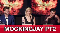 The Hunger Games Mockingjay Part 2 Interviews - Jennifer Lawrence, Josh ...