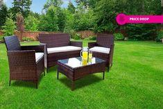 4pc Rattan Outdoor Garden Furniture Set