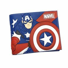 Captain America Wallet, Bifold, and Card Holder For Boys