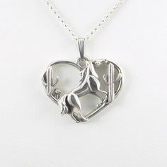 Sterling Silver Horse Necklace by Donna by DonnaPizarroDesigns