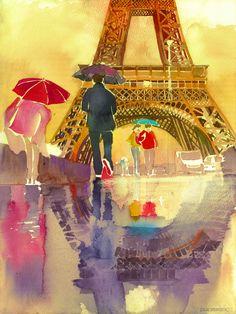 Maja met l'aquarelle à l'honneur en réalisant de magnifiques peintures de grandes villes à travers le monde | Daily Geek Show