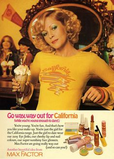 Image result for Vintage Max Factor California Ad