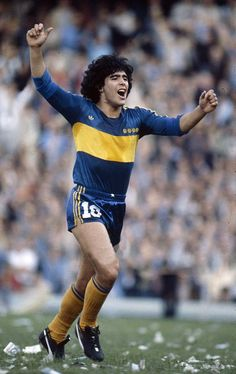 Diego Maradona of Boca Juniors in Legends Football, Football Icon, Best Football Players, Football Design, World Football, Football Pictures, School Football, Football Kits, Soccer Players