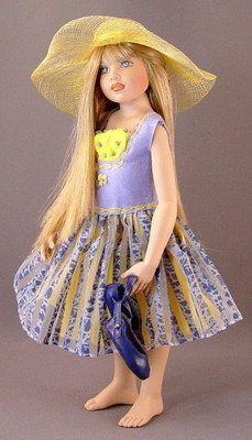 """Summer Gown & Hat by Helen Kish - Fits Crissy, 16"""" dolls, Furga Altamoda"""