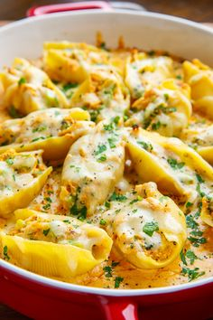 Cajun Chicken Alfredo Stuffed Shells Recipe Cajun seasoned chicken and broccoli stuffed shells in a tasty alfredo sauce and covered in melted cheese! Pasta Recipes, Beef Recipes, Chicken Recipes, Dinner Recipes, Cooking Recipes, Healthy Recipes, Healthy Food, Recipies, Recipe Chicken