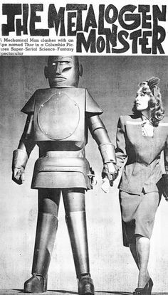 The Metalogen Monster ( retro robot / vintage movie poster / vintage futurism / sci fi / science / future )