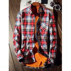 SHARE & Get it FREE   Long Sleeve Plaid Pocket Thermal ShirtFor Fashion Lovers only:80,000+ Items • FREE SHIPPING Join Twinkledeals: Get YOUR $50 NOW!