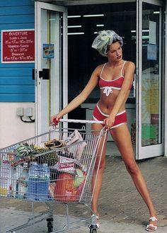 """80s-90s-supermodels:  """"Dubalancetdesculeurs…"""", ELLE France,..."""
