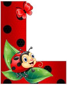 Ladybug Art, Ladybug Crafts, Lady Bug, Diy Classroom Decorations, Boarder Designs, Alphabet Wallpaper, Clip Art Pictures, School Frame, Alphabet And Numbers