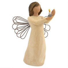 Want this one  Angel Of Hope Willow Tree figurine #angel #willowtree #Christmas #Bronners $17