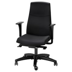 IKEA - VOLMAR Swivel chair with armrests black  Limited Warranty. Read about the terms in the Limited Warranty brochure.Seat and backrest are adjustable ...  sc 1 st  Pinterest & 24 best Cheap Computer Chairs images on Pinterest | Cheap computer ...