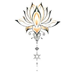Étanche Tatouage Temporaire Autocollants Mignon Bouddha Lotus Fleurs Conception…