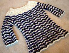 Chevron stripes sweater.  Free pattern.