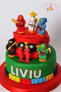 Tort Lego Ninjago pentru Liviu