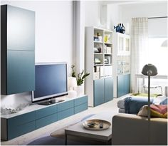 IKEA BESTA: Oturma odanızı sıradanlıktan kurtaran BESTA'lar IKEA'da! Ikea Wall Cabinets, Condo Remodel, Flat Ideas, Living Room Tv, Style At Home, Home Bedroom, Sweet Home, New Homes, Lounge