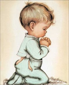 New Children's Prayer Childrens Prayer, Cute Alphabet, Good Night Blessings, Baby Art, Angel Art, Dear God, Vintage Cards, Vintage Prints, Little Boys