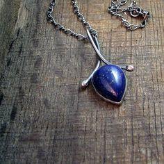 Lapis Lazuli Teardrop Necklace - by EstherEveMetalsmith, $115.00