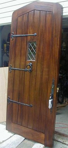Gothic Plank Mahogany Door~for the mountain house