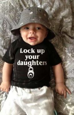 So darn cute and probably true! He looks like a heartbreaker!  LOL