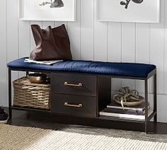 Bench perfect for an entry with drawers! small space solutions!