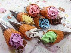 1 Pcs ice cream waffle Cone Charm Sweet Decoden by PixieKhloe, $4.98