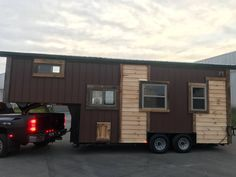 The Coyote Cabin: a tiny house, built onto a gooseneck trailer, by Incredbible Tiny Homes of Morristown, Tennessee.