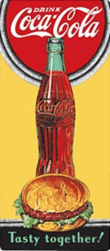 Drink Coca Cola Coke Tasty Together Targa in alluminio