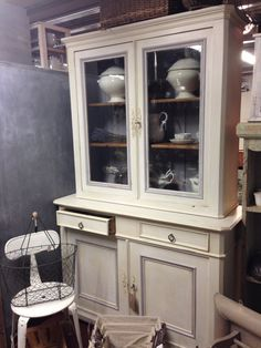 French glazed dresser/cabinet
