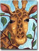 Step by step drawing a giraffe.