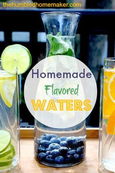 Flavored waters are easy to make at home and are oh-so-yummy! It's a great way to stay hydrated and enjoy it! They're a great alternative to soda!
