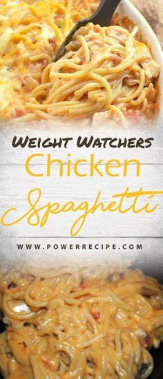 Weight watchers spaghetti recipes 32 ideas for 2019 Weight Watchers Pasta, Weight Watcher Dinners, Poulet Weight Watchers, Weight Watchers Meal Plans, Weight Watchers Chicken Spaghetti Recipe, Weight Watcher Crockpot Recipes, Weight Watchers Smart Points, Ww Recipes, Chicken Recipes
