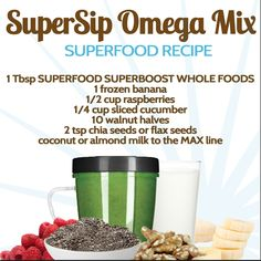 Add NutriBullet's SuperFood Super Boost Whole Foods boost to your Blast and have the perfect nutritious and tasty drink! Superfood Recipes, Nutribullet Recipes, Smoothie Recipes, Healthy Recipes, Healthy Green Smoothies, Healthy Drinks, Healthy Eating, Smoothie Popsicles, Juice Smoothie