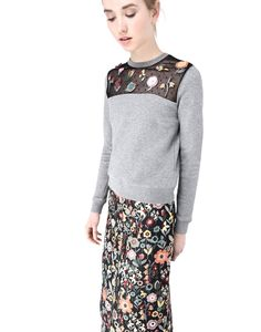 RED Valentino Fragile Flower Embroidered Sweatshirt - Sweatshirt Women | RED Valentino E-Store