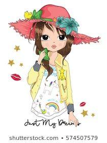 Portfólio de Mehmet GUNEY no Shutterstock Chica Gato Neko Anime, Anime Girl Neko, Disney Frames, Doll Drawing, Cute Cartoon Girl, Kawaii, Iconic Movies, Child Doll, Portfolio