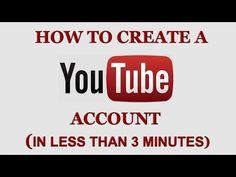 How To Create A YouTube Account In Less Than 3 Minutes http://www.youtube.com/watch?v=fbljXo-A1Ek