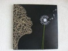 Dandelion string art  | followpics.co