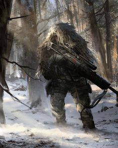 We are here to display brilliant concept art of Darek Zabrocki. His concept art is truly cool, amazing, awesome, fine and best. Post Apocalypse, Le Sniper, Sniper Rifles, Armas Wallpaper, Guerra Anime, Post Apocalyptic Art, Future Soldier, Military Special Forces, Modern Warfare