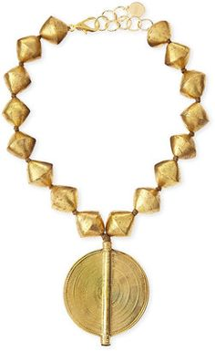 Shop for NEST Jewelry Brass Beaded Pendant Necklace at ShopStyle. Bold Jewelry, Statement Jewelry, Jewelry Sets, Jewelry Design, Women Jewelry, Fashion Jewelry, Style Fashion, Jewelry Making, Jewellery