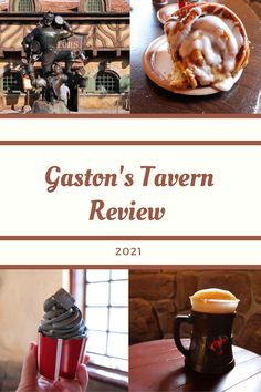 Gaston's Tavern is a quick service restaurant in Disney World's Magic Kingdom park. The restaurant is famous for it's huge cinnamon roll. The most recent menu update added The Greystuff Cupcake. Read what we thought about the food and the theme. Disney World Food, Disney World Restaurants, Disney Resorts, Disney Vacations, Disney On A Budget, Disney World Vacation Planning, Disney Planning, Magic Kingdom Food, Disney World Magic Kingdom