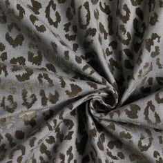 Leopard Flock Print Stretch Denim – grey - Denim Fabricsfavorable buying at our shop Sewing For Beginners, Haberdashery, Flocking, Dressmaking, Stretch Denim, Grey, Sew Dress, Gray, Beginners Sewing