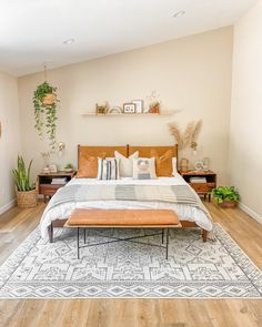 Room Ideas Bedroom, Home Decor Bedroom, Eclectic Bedroom Decor, Bedroom Wall, Decoration Inspiration, Room Inspiration, Aesthetic Room Decor, Style Vintage, White Rug